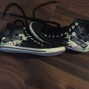 Coach black size 8 high sneakers.